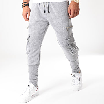 Pantalon Jogging F622 Gris Chiné