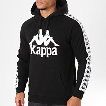 Kappa - Sweat Capuche Avec Bandes Authentic Hurtado Noir