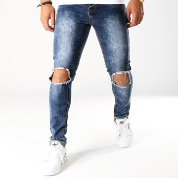 Jean Skinny Avec Trous BO14 Bleu Medium