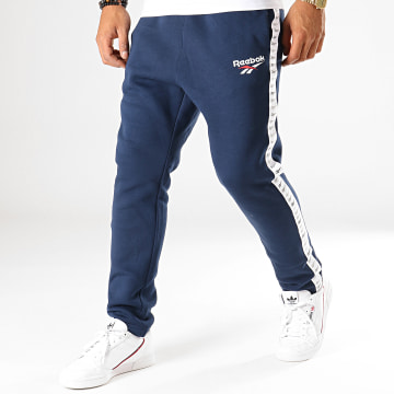 Pantalon Jogging A Bandes Classic Vector FL5474 Bleu Marine