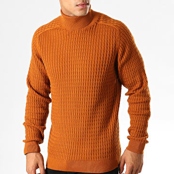 Selected - Pull Col Roulé Carlos Cable Camel