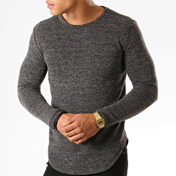 Terance Kole - Pull Oversize Y2193 Gris Anthracite Chiné