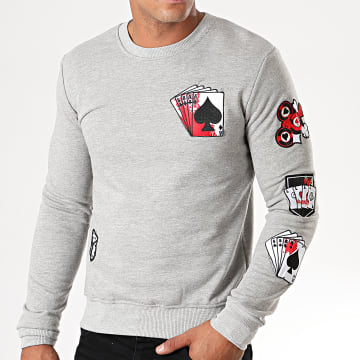Sweat Crewneck DY010 Gris Chiné