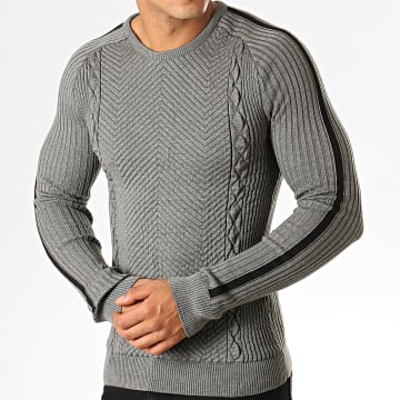 Pull A Bandes TM9008 Gris