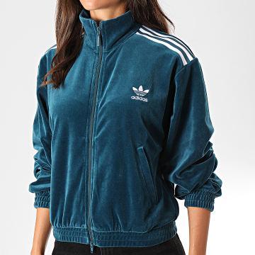 adidas - Veste De Sport Femme A Bandes Velvet ED4731 Vert