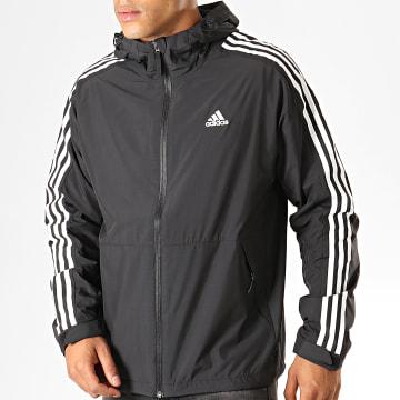 Adidas Performance - Veste Zippée Capuche A Bandes 3 Stripes WB Ling EK4271 Noir