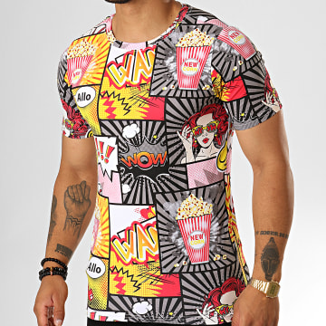 Tee Shirt JAK-138 Gris Jaune