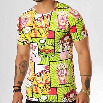 Berry Denim - Tee Shirt JAK-138 Vert Jaune