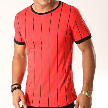 Frilivin - Tee Shirt A Rayures 5351 Rouge