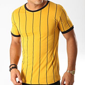 Tee Shirt A Rayures 5351 Jaune Moutarde