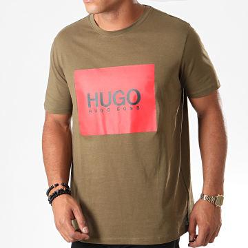 HUGO by Hugo Boss - Tee Shirt Dolive 194 50414225 Vert Kaki Rouge