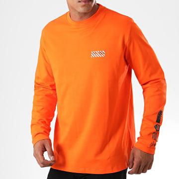 HUGO by Hugo Boss - Tee Shirt Manches Longues Reverse Logo Dyderabad 50414452 Orange Noir