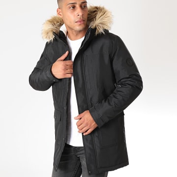 Only And Sons - Parka Fourrure Basil Noir