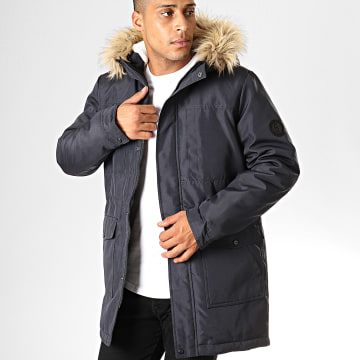 Only And Sons - Parka Fourrure Basil Bleu Marine