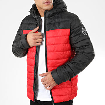Only And Sons - Doudoune Steven Quilted Noir Rouge