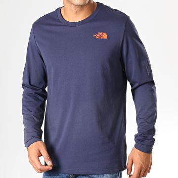Tee Shirt Manches Longues Easy 2TX1 Bleu Marine