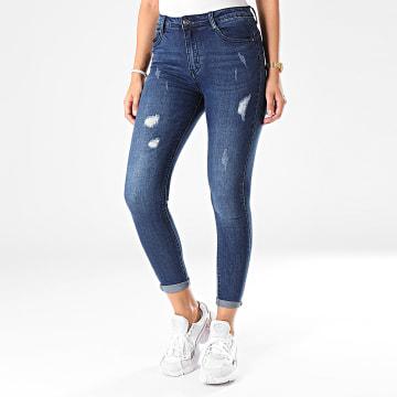 Jean Skinny Femme 100 Bleu Brut