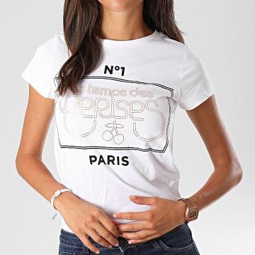 Tee Shirt Femme Pistache Blanc Doré