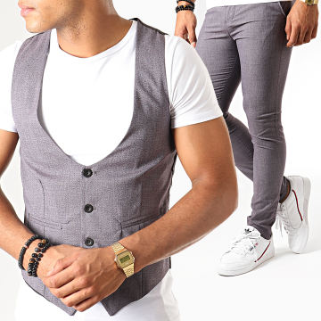MTX - Ensemble Gilet Et Pantalon DJ300 Bordeaux Chiné