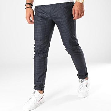 MTX - Pantalon A Carreaux DJ415 Bleu Marine