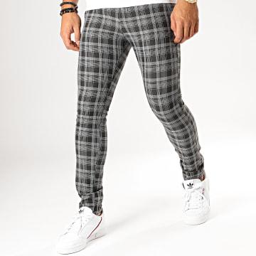MTX - Pantalon A Carreaux DJ422 Noir