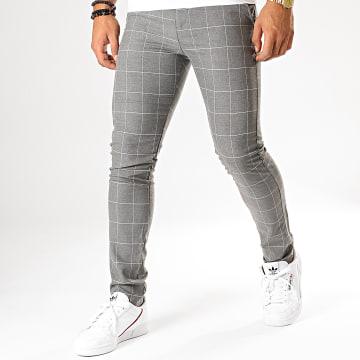 MTX - Pantalon A Carreaux DJ528 Gris Chiné