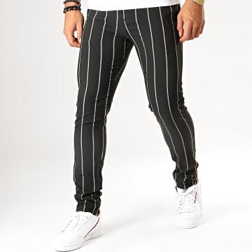 MTX - Pantalon A Rayures DJ531 Noir