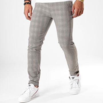 MTX - Pantalon A Carreaux DJ509 Gris Clair