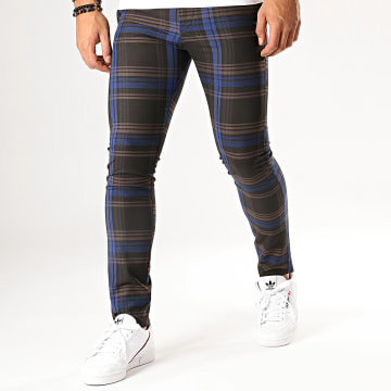 MTX - Pantalon A Carreaux DJ426 Marron