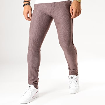 MTX - Pantalon A Carreaux DJ516 Bordeaux