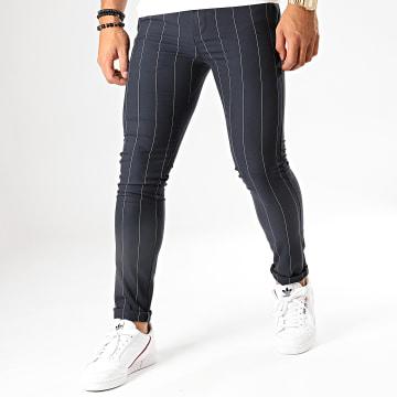 MTX - Pantalon A Rayures DJ514 Bleu Marine