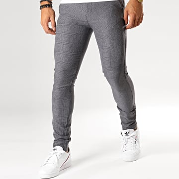 MTX - Pantalon A Carreaux DJ517 Gris Anthracite