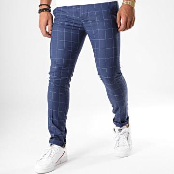 MTX - Pantalon A Carreaux DJ409 Bleu Marine