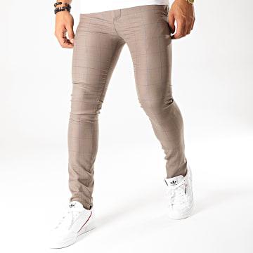 MTX - Pantalon A Carreaux DJ424 Taupe