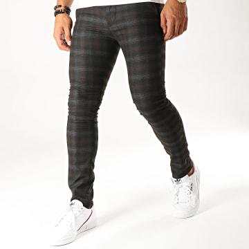 MTX - Pantalon A Carreaux DJ411 Noir