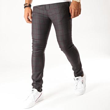 MTX - Pantalon A Carreaux DJ402 Gris Anthracite