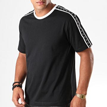 Tee Shirt A Bandes Monogram 3252 Noir Blanc