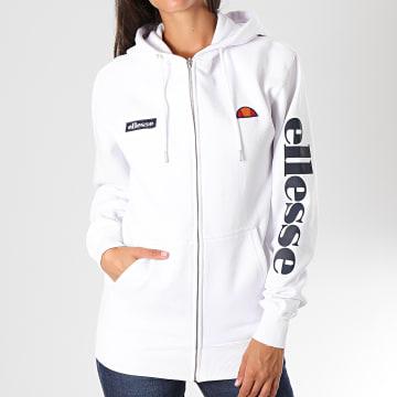 Ellesse - Sweat Zippé Capuche Femme Serinatas SGS03134 Blanc