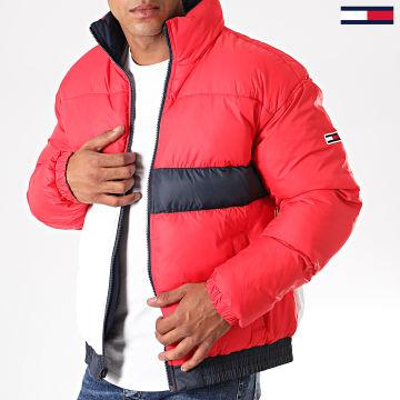 Tommy Jeans - Doudoune Réversible 7252 Rouge Blanc Bleu Marine