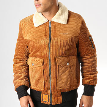Bombers Original - Bomber Col Mouton Cord Camel
