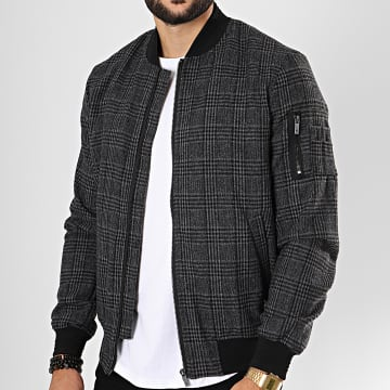 Bomber A Carreaux Dandy Gris Anthracite