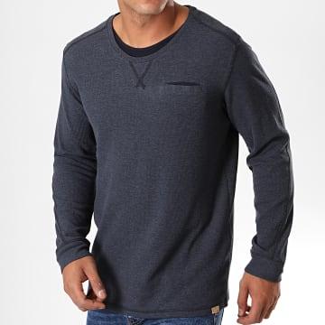 Tom Tailor - Tee Shirt Manches Longues Poche 1014079-00-10 Bleu Marine
