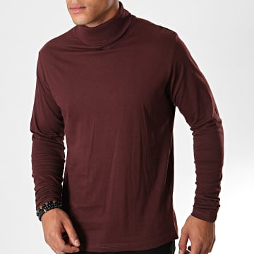 Brave Soul - Tee Shirt Manches Longues 36Giraffed Bordeaux
