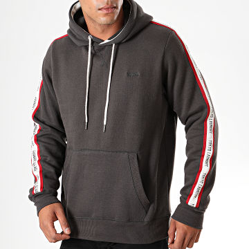Tokyo Laundry - Sweat Capuche A Bandes Willow Pines Gris Anthracite