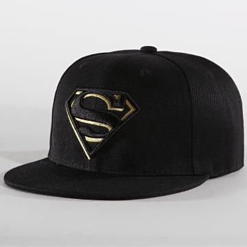 Casquette Snapback Original Logo Superman Noir Doré
