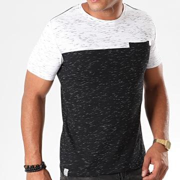 Tee Shirt Poche Mackay Noir Chiné Blanc Chiné
