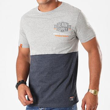 Tee Shirt Merinton Gris Chiné Bleu Marine Chiné