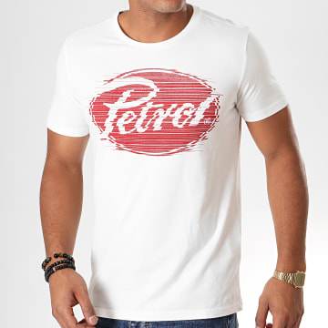 Petrol Industries - Tee Shirt 601 Blanc Rouge