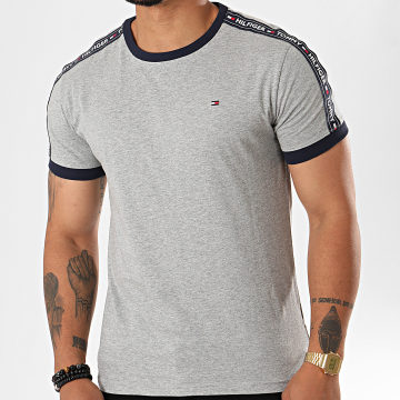 Tommy Hilfiger - Tee Shirt A Bandes 0562 Gris Chiné