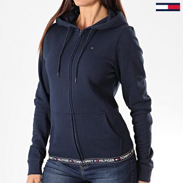 Tommy Hilfiger - Sweat Zippé Capuche Femme 00582 Bleu Marine